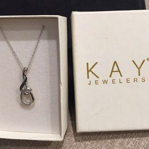 Black/white Kay Jewelers Diamond Necklace 1/10 ct